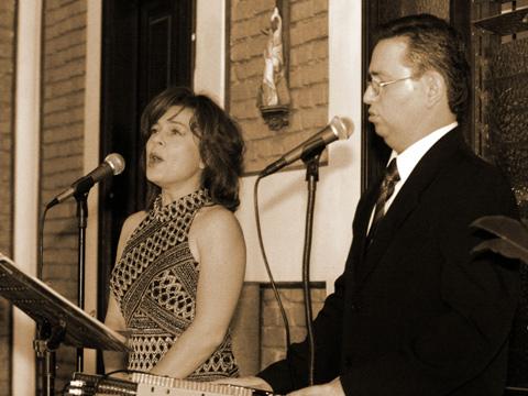 Foto: Eduardo López Pedro Losilla acompañado por la soprano María Marta López.